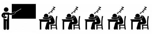 Wenn alles schläft und einer spricht, den Zustand nennt man Unterricht.